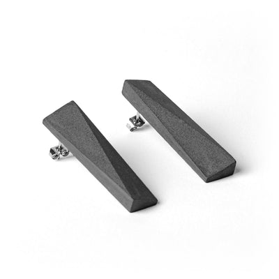 MORF Blok—48 Dark Gray Concrete Earrings