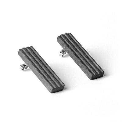 MORF  Blok—50 Dark Gray Concrete Earrings