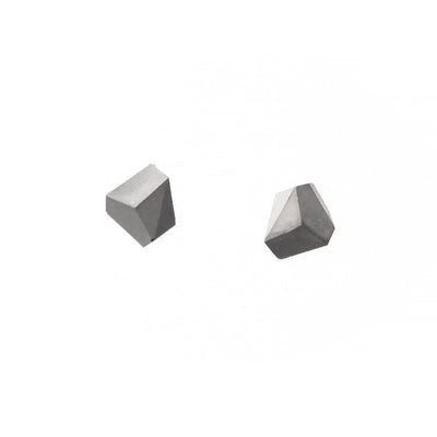 22STUDIO Concrete Rock Earrings Light Gray