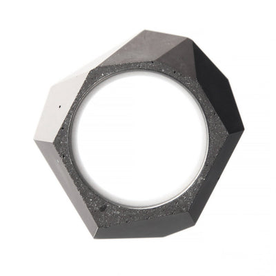 Front View Of A Dark Gray Concrete Rock Ring By 22STUDIO