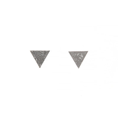 22STUDIO Tetrahedron Concrete Earrings In Mineral Gray