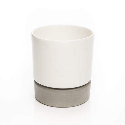 U-Herb Concrete And Porcelain Planter White Background