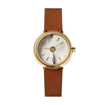 Front View Of 22STUDIO Ups & Downs 30mm Cinnamon Concrete Watch