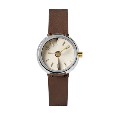 22STUDIO Ups & Downs Mocha Concrete Watch Front View