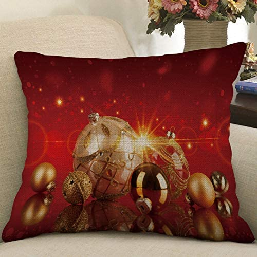 Hohaski Christmas Print Pillow Case Flax Pillowcase Sofa Car Cushion Cover Home Decor, Christmas Ornaments Advent Calendar Pillow Covers Garland Tree Skirt Gift Bags DIY