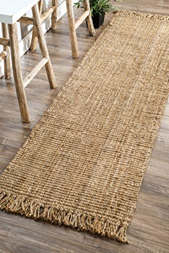 nuLOOM Natura Collection Chunky Loop Jute Rug, 3' x 5', Natural