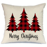 AENEY Christmas Plaid Pillow Cover 18x18 inch for Farmhouse Christmas Decor Red and Black Buffalo Check Throw Pillow Buffalo Plaid Christmas Decorations Throw Pillow Cover