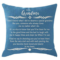 ITFRO Nice Mothers Sister Christmas Birthday Gift Let It Snow with Beautiful Snowflakes Blue Lumbar Cotton Burlap Linen Throw Pillowcase Cushion Cover Sofa Decorative Rectangle 12x20 Inches (Blue)