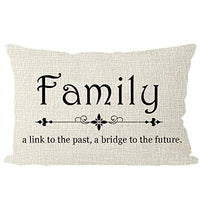 ITFRO Daughters Family is Not an Important Thing Its Everything Beige Lumbar Burlap Pillow Case Cushion Cover Bedroom Decorative Rectangular 30x50cm