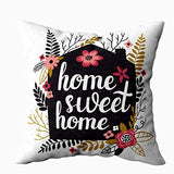 Capsceoll Rustic Chic Home Sweet Home Lumbar Decorative Throw Pillow Case 20X36Inch,Home Decoration Pillowcase Zippered Pillow Covers Cushion Cover with Words for Book Lover Worm Sofa Couch
