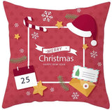 Hohaski New Christmas Pillow Case Red Cushion Cover Xmas Home Decoration Covers, Christmas Ornaments Advent Calendar Pillow Covers Garland Tree Skirt Gift Bags DIY