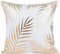 shamoluotuo Throw Pillow Covers Gold Foil Printing Style Throw Pillows Square Pillow Case Cover Pineapple Waist Cushion Cover for Couch Sofa Bedroom Car Home Decor 18x18 inch