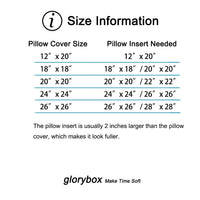 Glorybox Pack of 2 Decorative Throw Pillow Covers Cotton Linen Burlap Soft Solid Cushion Case, Home Decor Design Set, Sofa, Bedroom, Livingroom, Car, 18 x 18 Inch 45 x 45 cm