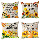 Queen's designer Cotton Linen Home Office Decorative Throw Waist Lumbar Pillow Case Cushion Cover Natural Yellow Sunflower Print Rectangle 12 X 20 Inches