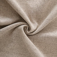 Deconovo Textural Faux Linen Throw Cushion Case Pillow Cover with Invisible Zipper for Couch 18 x 18 Inch Light Flax Set of 4 No Pillow Insert