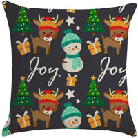 Hohaski Merry Christmas Linen Pillowcase Sofa Pad Set Home Decoration 18x18 Inch, Christmas Ornaments Advent Calendar Pillow Covers Garland Tree Skirt Gift Bags DIY