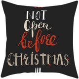 Hohaski Christmas Series Home Decor Polyester Pillow Case Cushion Covers 18x18in, Christmas Ornaments Advent Calendar Pillow Covers Garland Tree Skirt Gift Bags DIY