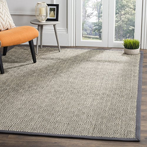 Safavieh Natural Fiber Collection NF151B Natural and Beige Area Rug, 3' x 5'