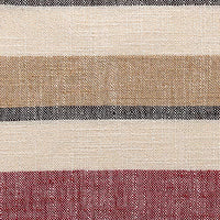 "NATUS WEAVER 2 Pieces Multi Color Stripe Lined Linen Burlap Square Throw Cushion Cover Sham Euro Pillowcase with Hidden Zipper, 18"" x 18"""