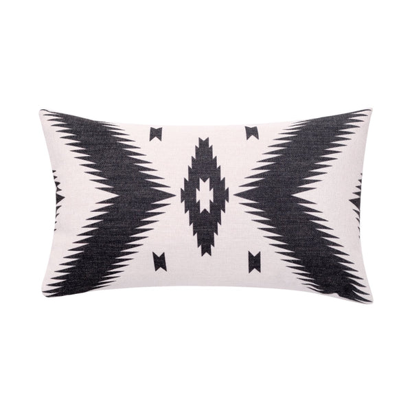 BreezyLife Aztec Lumbar Throw Pillow Cover Ethnic Decorative Pillow Case Linen Square Cushion Cover for Sofa Couch Farmhouse Outdoor (12x20 inches)