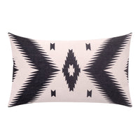 BreezyLife Aztec Lumbar Pillow Cover Ethnic Decorative Pillow Case Linen Square Accent Cushion Cover for Sofa Couch Farmhouse Outdoor 12x20 Inches(W)