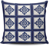 WULIHUA Pillow Covers Mexican Talavera Tile Sofa Modern Pillow Case Decorative Throw Pillow Cases Double Sides Printed Square 18x18 Inches