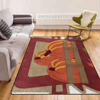 Happy Fall Pickup Burlap Super Soft Non-Slip Home Area Rugs Living Room Carpet Bedroom Rug 84 X 60 Inch Doormat