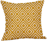 shamoluotuo Modern Throw Pillow Covers Simple Geometric Style Yellow Throw Pillow case Cotton Linen Burlap Square Home Square Decor Pillow Cases Cushion Covers Sofa Car, 18 x 18 Inches