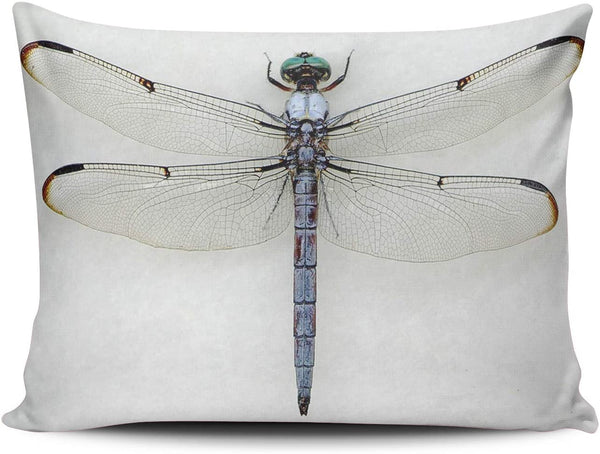WULIHUA Pillow Covers Beautiful Dragonfly Sofa Modern Pillow Case Decorative Throw Pillow Cases One Side Printed Boudoir 12x18 Inches