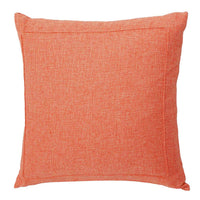 Jepeak Burlap Linen Throw Pillow Cover Cushion Case, Farmhouse Modern Decorative Solid Square Pillow Case, Thickened Luxury for Sofa Couch Bed (16 x 16 Inches, Blaze Orange)