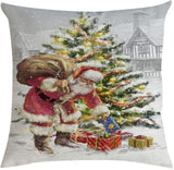 Hohaski Christmas Pillow Cover Pillowcases Decorative Sofa Cushion Cover 45x45cm, Christmas Ornaments Advent Calendar Pillow Covers Garland Tree Skirt Gift Bags DIY