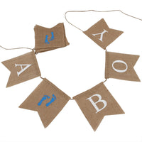 INNORU(TM It's A Boy Banner Burlap , Baby Shower,Boy's 1st Birthday Party Bunting Decorations 2.8ft