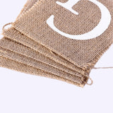 Gifts Banners Hessian Rustic Burlap Bunting Gifts Sign for Wedding Party,Engagement,Bridal Shower,Retirement,Baby Shower,Birthday Party Supplies Decoration (White)