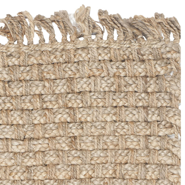 Safavieh Natural Fiber Collection NF856A Hand Woven Natural Jute Area Rug (3' x 5')