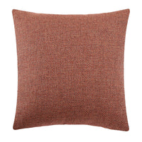 Jepeak Burlap Linen Throw Pillow Cover Rhombus Pattern Cushion Case, Solid Thickened Farmhouse Modern Decorative Square Luxury Pillow Case for Sofa Couch Bed (Deep Orange/Coffee, 20 x 20 Inches)