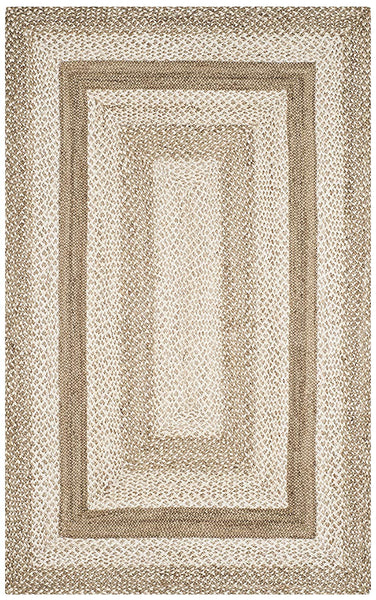 Safavieh Natural Fiber Collection NF884F Hand-Woven Jute Area Rug, 3' x 5', Grey/Ivory