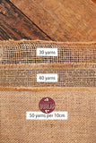 Burlap Table Runner - 14 Inch Wide X 10 Yards Long Burlap Roll - Burlap Fabric Rolls. A No-Fray Burlap Runner with Overlocked and Sewn Edges for Rustic Weddings, Decorations and Crafts!