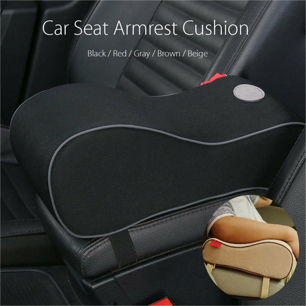 US Memory Foam Cushions Car Seat Cushion Armrest Center Console Pillow Pad Black