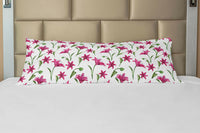 Ambesonne Floral Vivid Body Pillow Case Cover with Zipper Decorative Accent