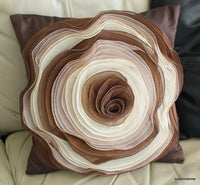 Coffee Rose Pillow Cover Case Bed Accent Decorative Designer Home Decorator