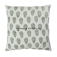 Decorative 100% Cotton Hand Block Printed Square Cushion Cover Sofa Decor Boho