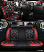 PU Leather Car Interior Seat Cover Front+Rear Protector Cushion Full Set+Pillows