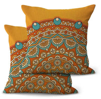 2PCS pillow case for sofa perfection eternity mandala cushion cover