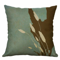 "Home Decor Cotton linen Vintage Cushion Cover Case 18"" Pillow Plant Sofa"