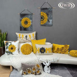 Jwh 3D Sunflower Accent Pillow Case Handmade Cushion Cover Decorative Stereo Emb