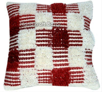 "Shaggy Cushion Cover Kilim Handwoven Floor Pillowcase 18"" Ethnic Sofa Pillow 2Pc"