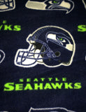 Decorative Seahawks blue white green accent throw case cushion pillow cover