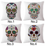 Skull Sofa Pillow Case Cotton Linen Fashion Throw Cushion Cover Home Decor 18""
