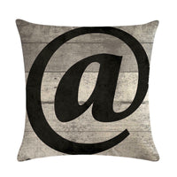 18'' Special Symbol Pattern Cotton Linen Cushion Cover Pillow case Home Decor