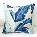 Throw Cushion Decor Pattern Cotton Leaf Pillow 18inch Linen Case Cover